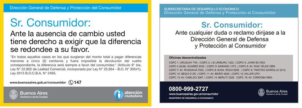 Cartel con direcci n y tel fonos de la direcci n general for Telefono oficina del consumidor