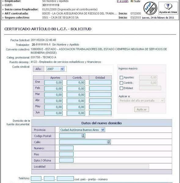 Certificado Del Art 80 A Traves De Mi Simplificacion