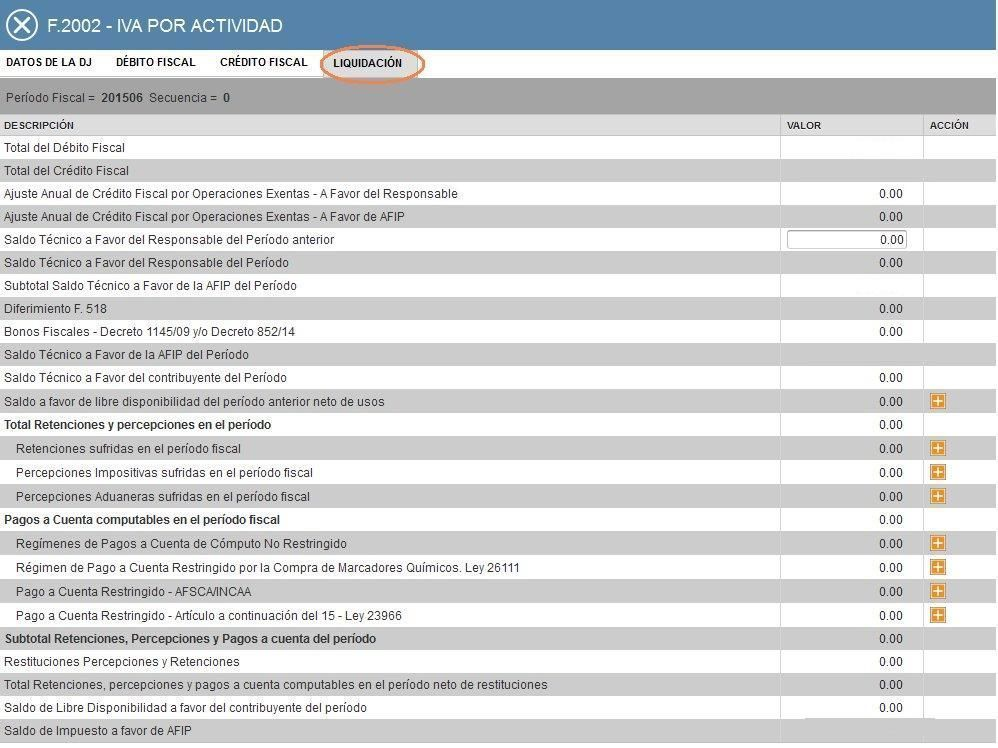 8.F2002 LIQUIDACION DE IVA POR ACTIVIDAD