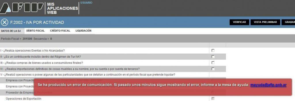 F.2002 IVA  WEB POR ACTIVIDAD NO FUNCIONA